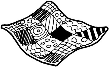 Quilt Mark Clipart Black And White