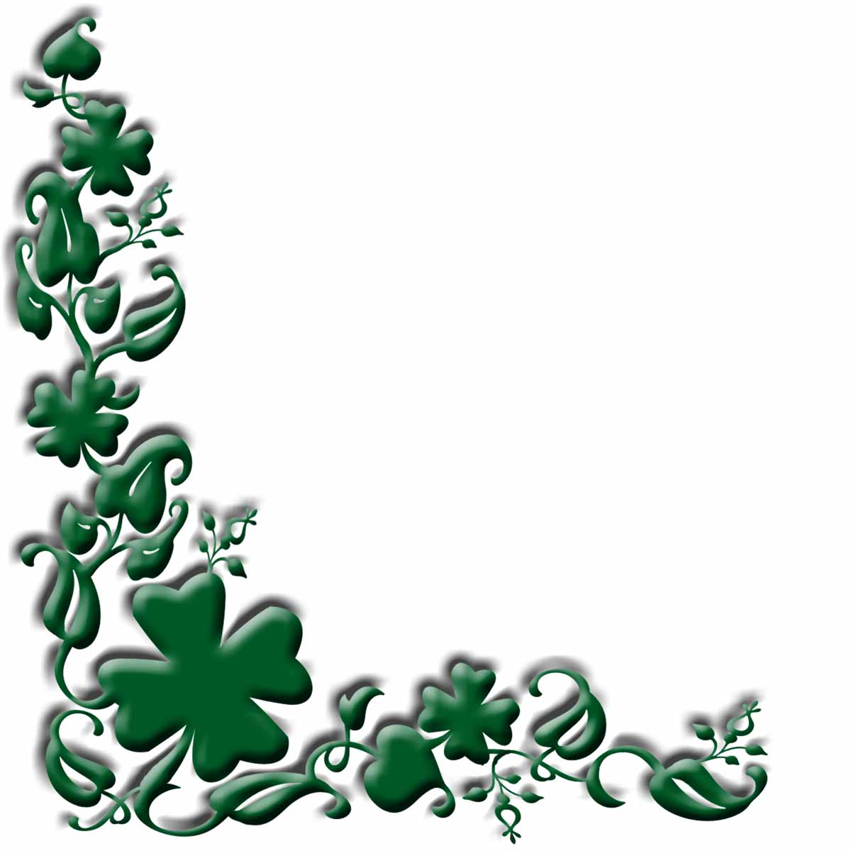 Free Shamrock Corner Cliparts Download Free Clip Art