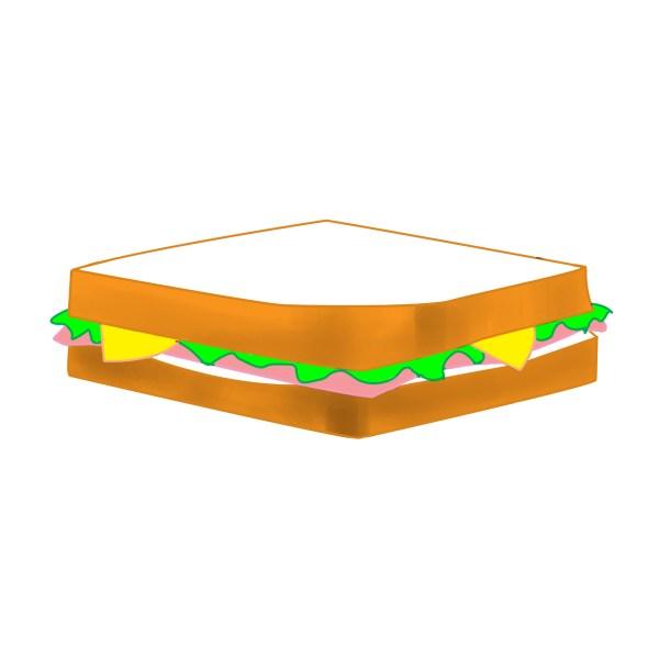 free sandwich ham cliparts