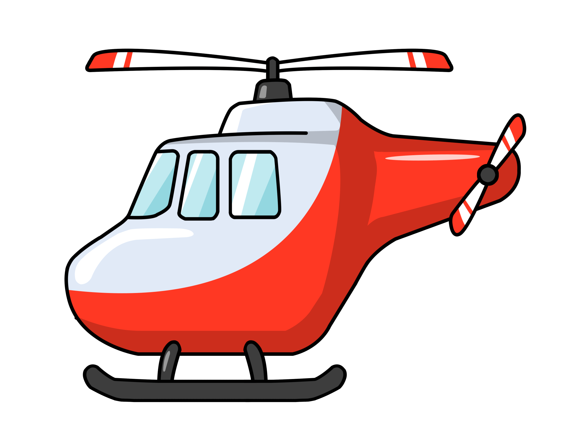 hight resolution of helicopter clipart