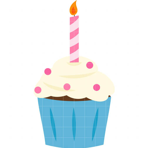 cupcake candle cliparts free