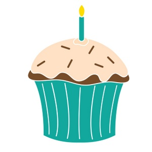 free cupcake candle cliparts