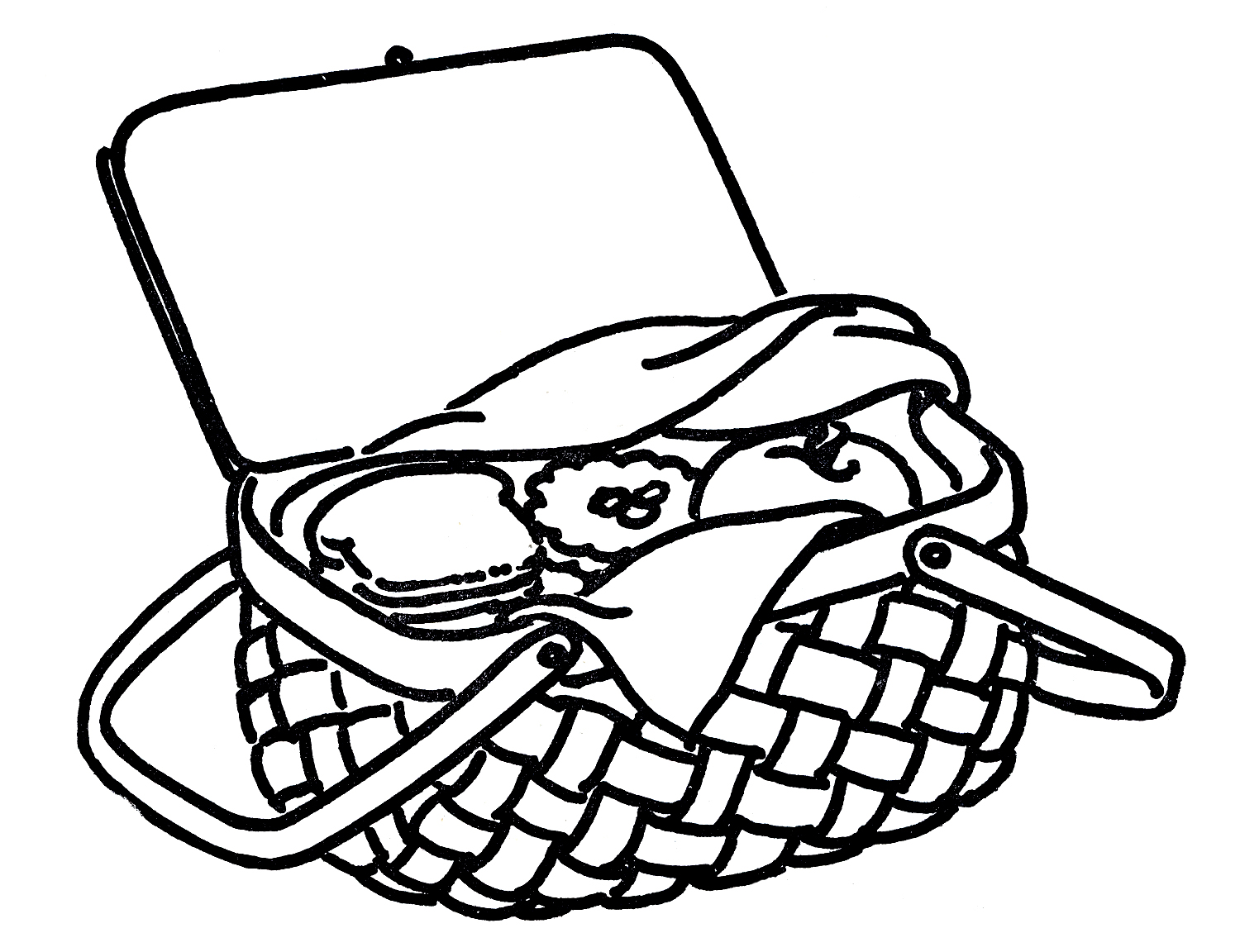 hight resolution of picnic basket clipart