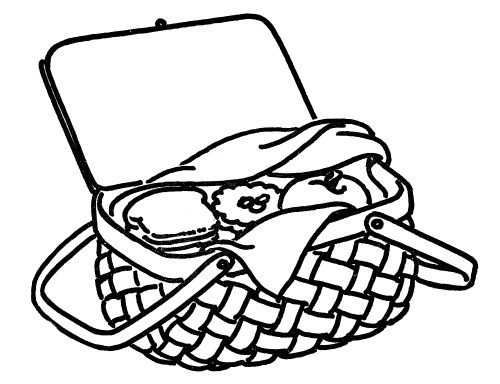 small resolution of picnic basket clipart