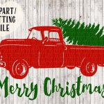 Free Old Truck With Christmas Tree Silhouette Download Free Clip Art Free Clip Art On Clipart Library
