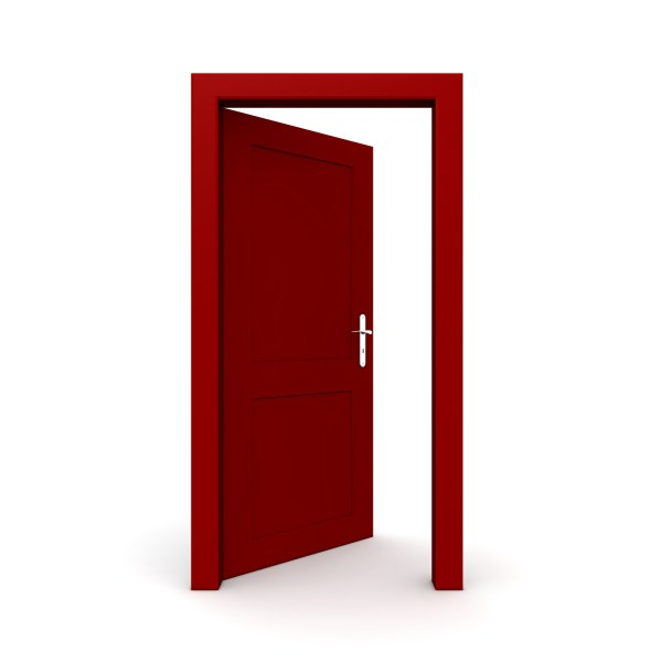 Door With Open Sign Clipart