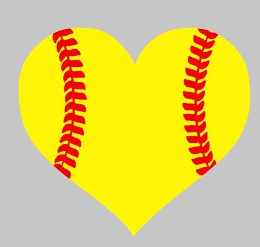free love softball cliparts