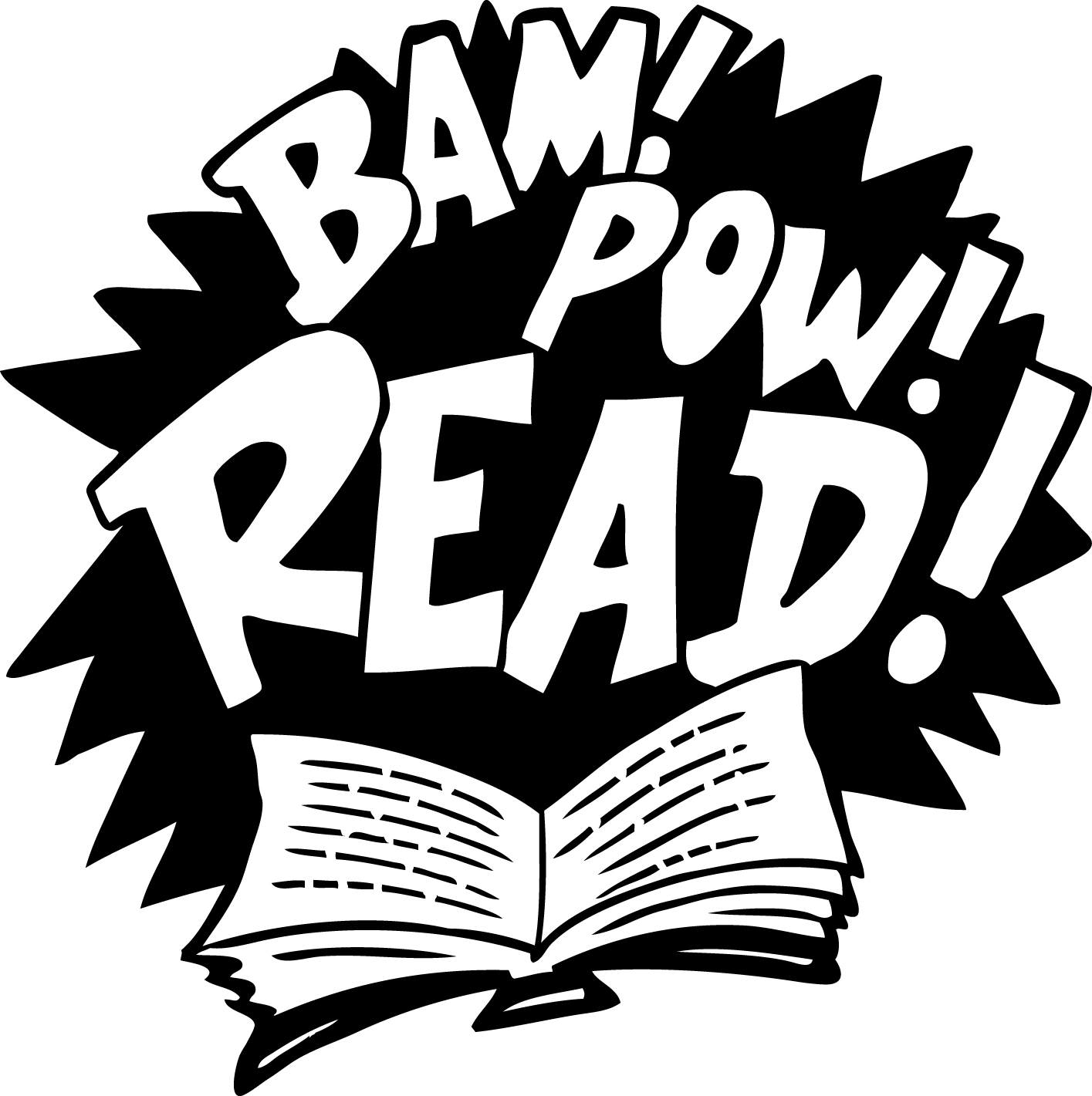 Clipart Superhero Reading Black And White