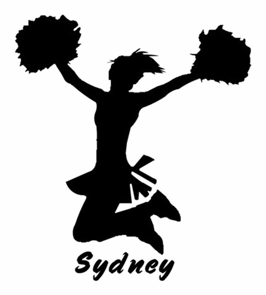 hight resolution of free cheerleader clipart silhouette