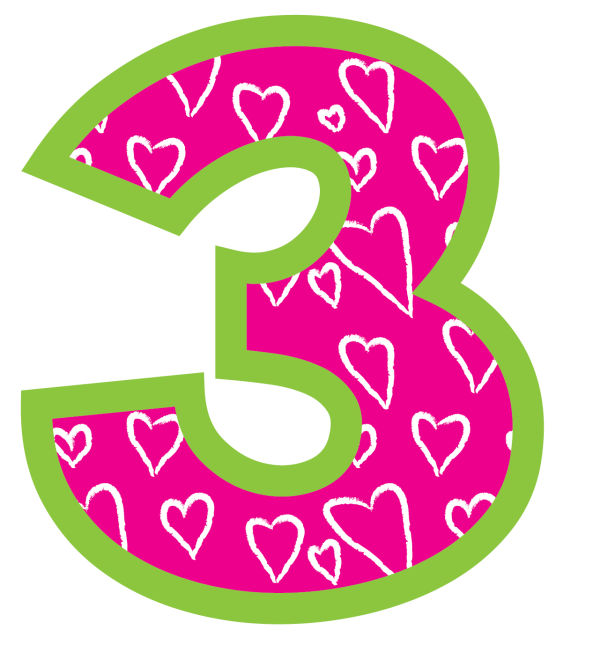 Pink Number 2 Birthday Clipart