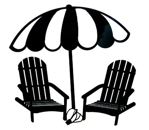 beach chair and umbrella clipart folding shower with wheels silhouette clip art library