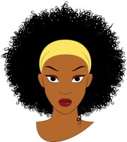 free afro hair cliparts