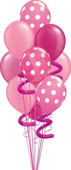 pink birthday balloons border clipart