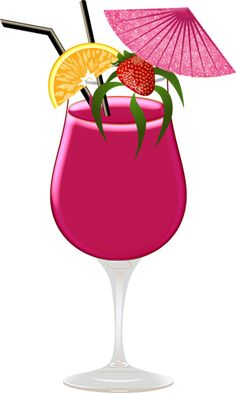 exotic coconut cocktail clipart