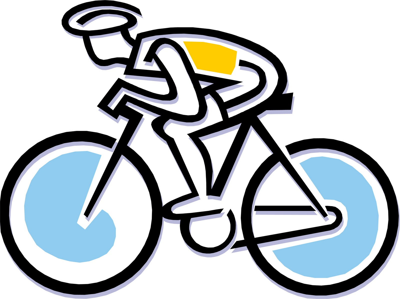 hight resolution of bicycle men clipart