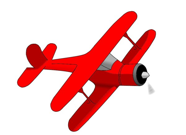 free red airplane cliparts
