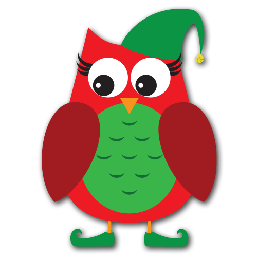 free owl christmas cliparts