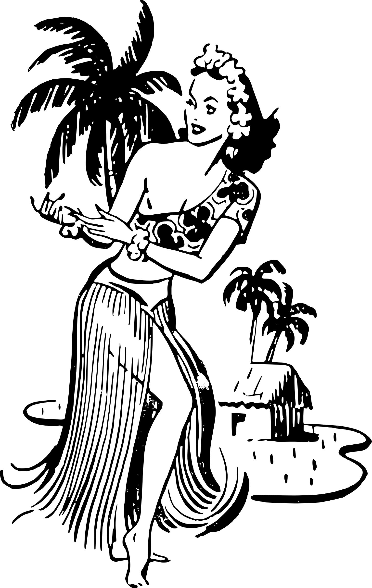 Free Hawaiian Woman Cliparts Download Free Clip Art Free