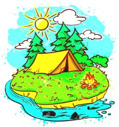 adventure camp clipart kids [ 1046 x 1100 Pixel ]