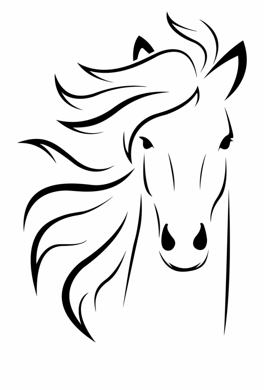 Download High Quality horse clipart black and white design