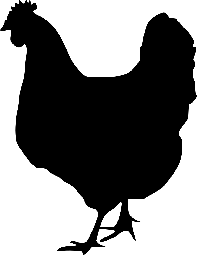 Chicken Silhouette Svg : chicken, silhouette, Chicken, Silhouette, Download, Clipart, Library