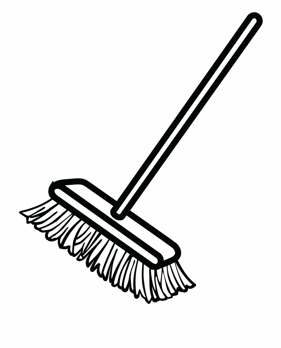 Broom Clipart Black And White : broom, clipart, black, white, Black, White, Broom,, Download, Clipart, Library