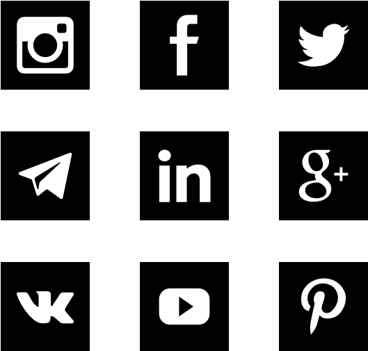 Social Media Icons Png Social Icons Square Png Clip Art Library