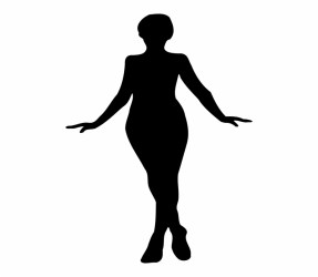 silhouette woman clipart skinny outline female body clip library plus