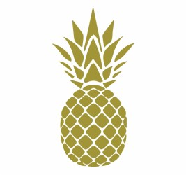 Vector Watercolor Pineapple Black And White Pineapple Clip Art Library