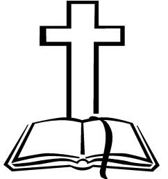 christian cross and bible clipart [ 951 x 1063 Pixel ]