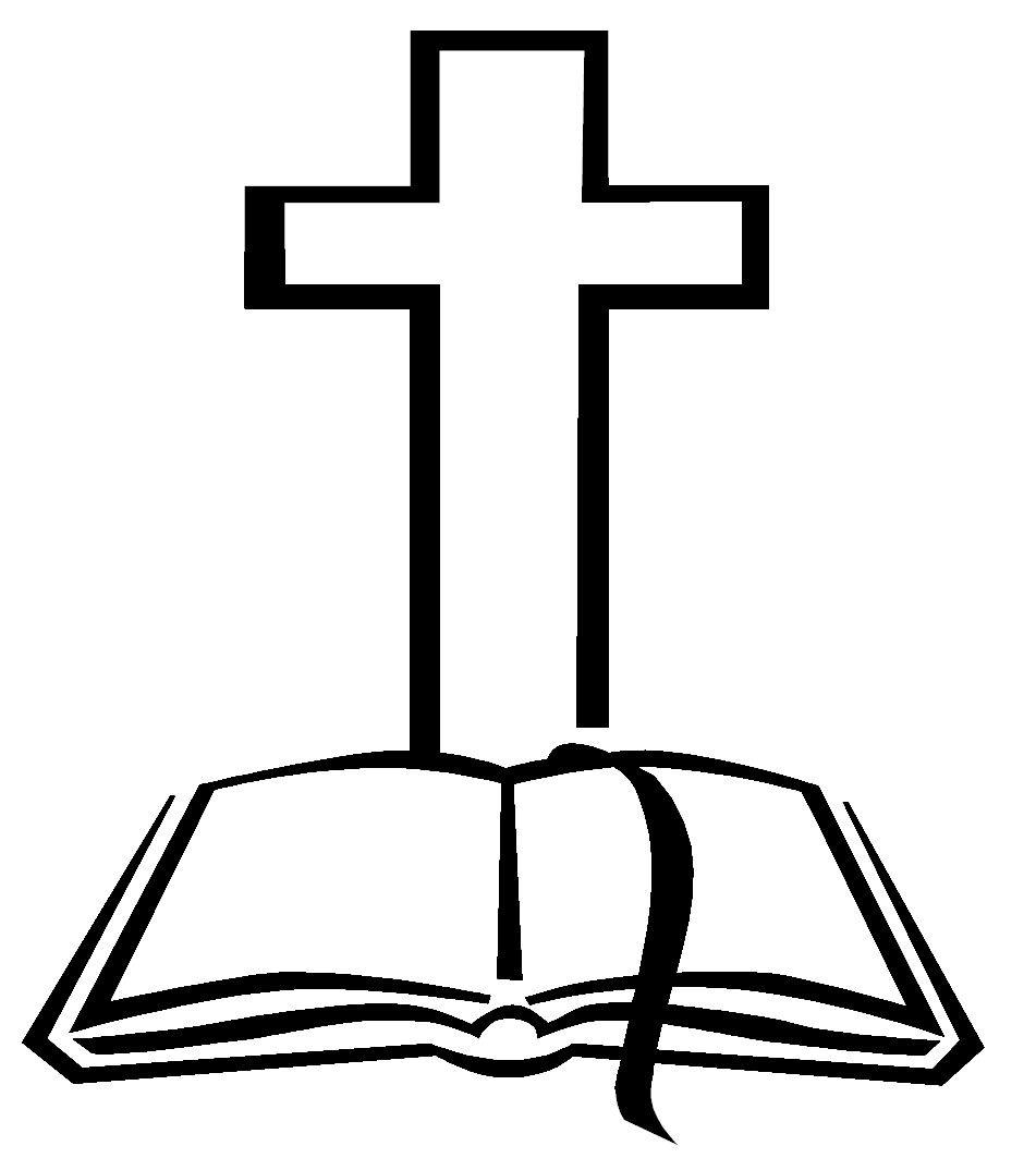hight resolution of christian cross and bible clipart