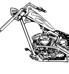 harley davidson harley motorcycle black and white clipart 2 [ 1600 x 796 Pixel ]