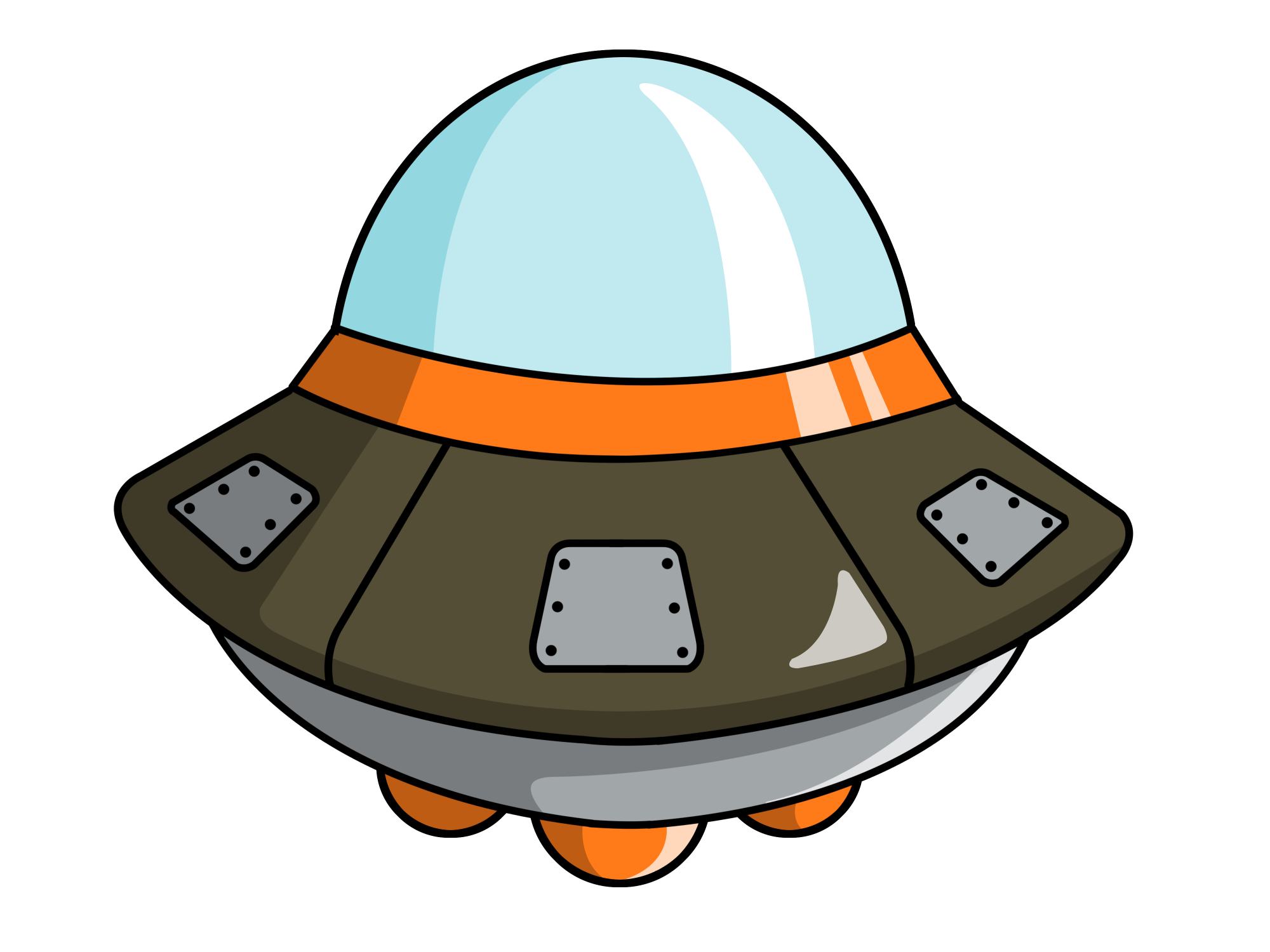 hight resolution of cute spaceship clipart 2