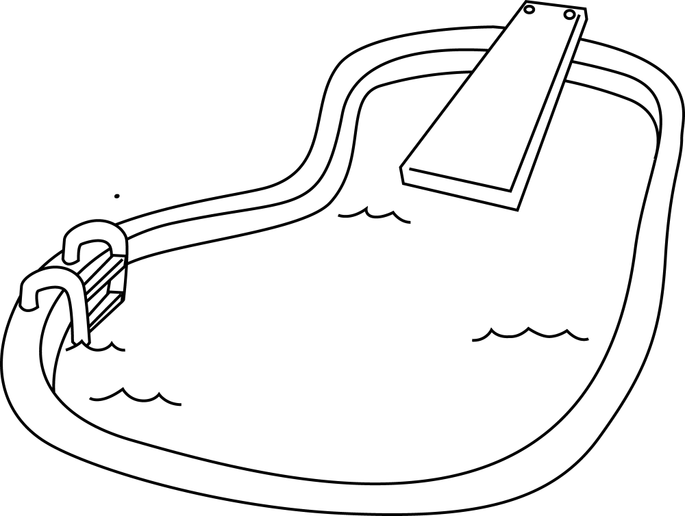 medium resolution of competitive swimming clipart black and white with swimming pool