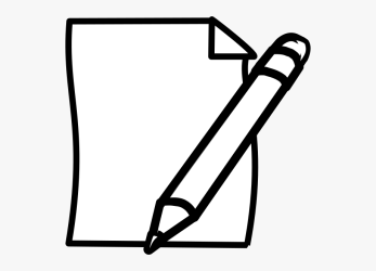 pencil paper clipart cartoon clip transparent cliparts pen library webstockreview netclipart