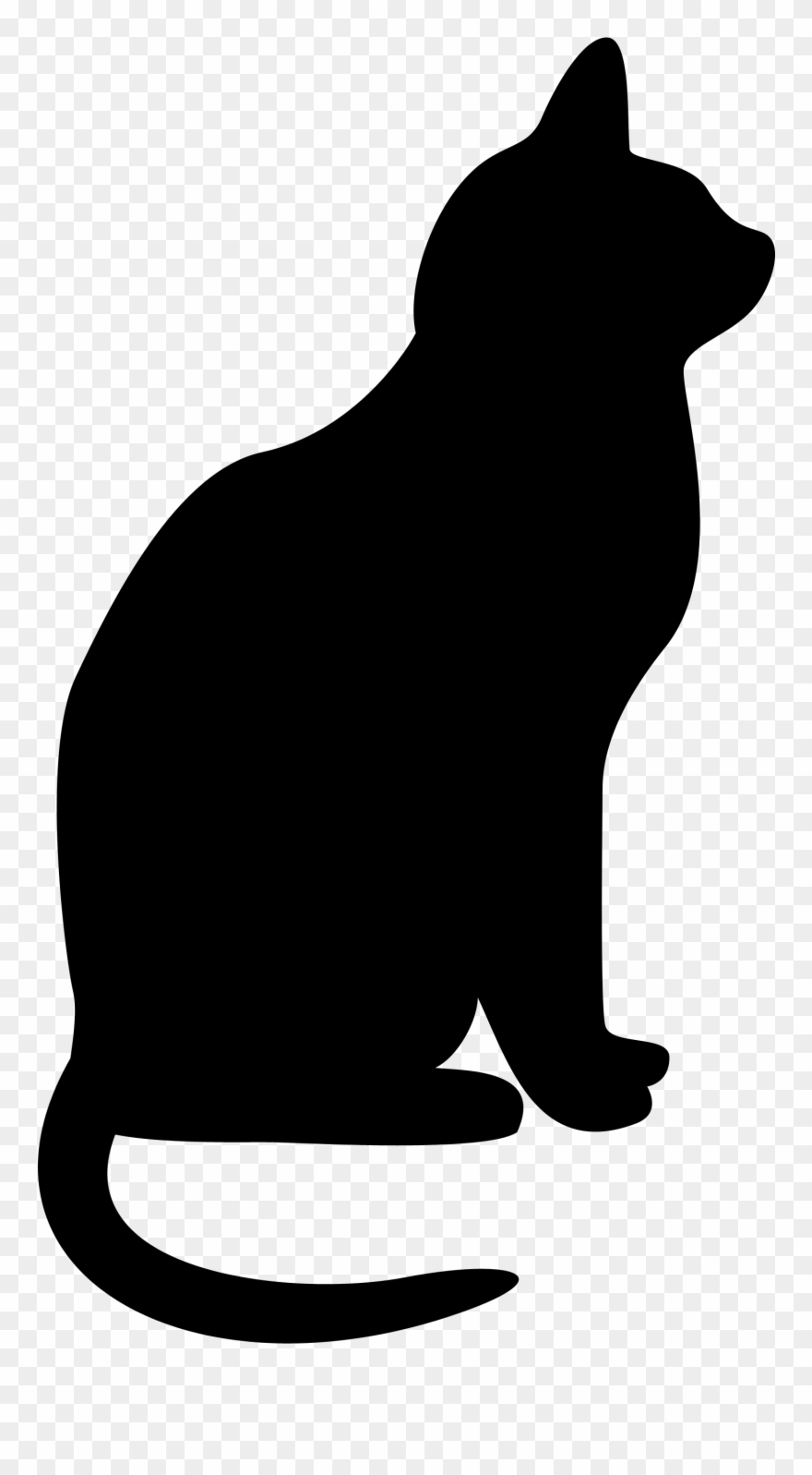 Rabid black cat | Public domain vectors