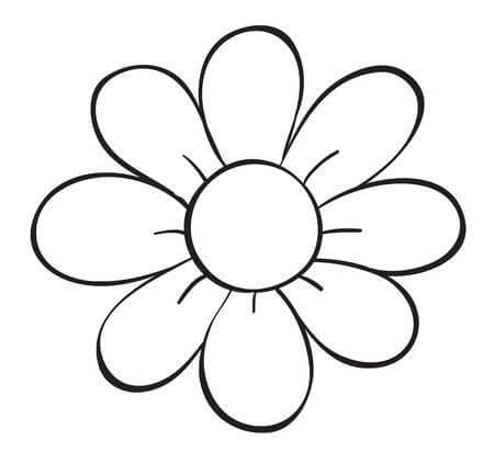 Single Flower Coloring Pages Clip Art Library