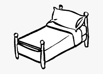 black and white clip art bed Clip Art Library