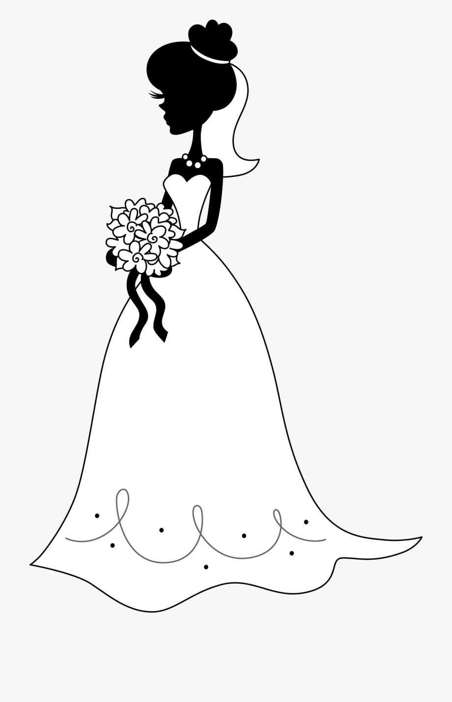 Bride Silhouette Stock Vectors, Clipart and Illustrations