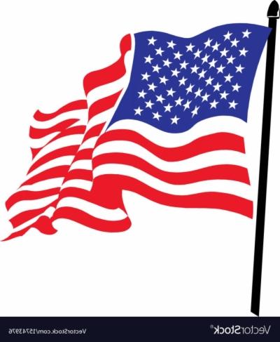 American Flag Waving Png : american, waving, Vector, American, Waving, Clipart, Library