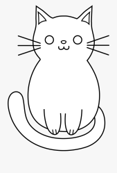 easy cat head drawing Clip Art Library