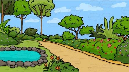 Cartoon Garden Clipart