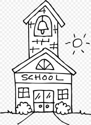 school clipart black and white png Clip Art Library