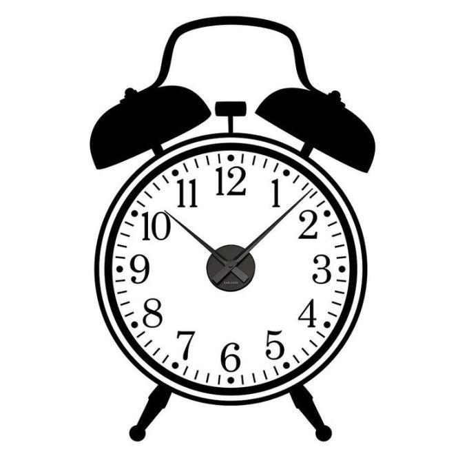 Alarm Clock Line Art Clip Library