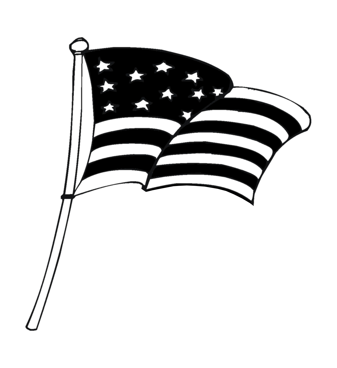 Free American Flag Clip Art Black And White Download Free Clip Art Free Clip Art On Clipart