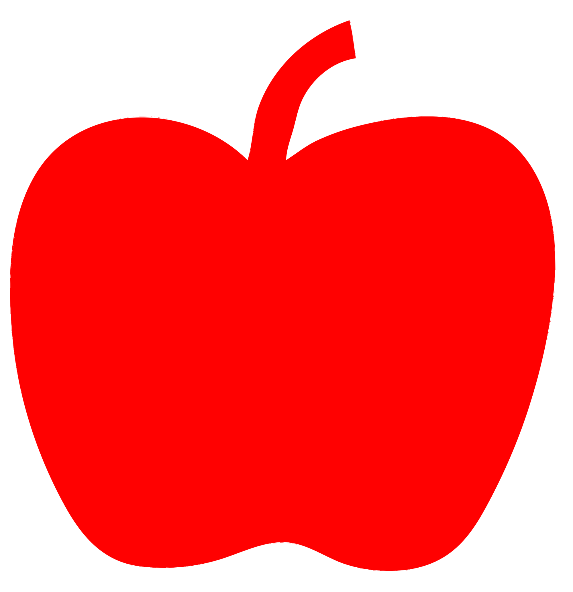 hight resolution of clipart red apple openclipart