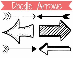 arrow clip clipart drawn library arroe