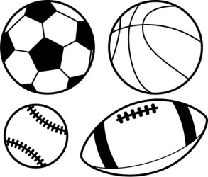 sports balls clipart black and white Clip Art Library