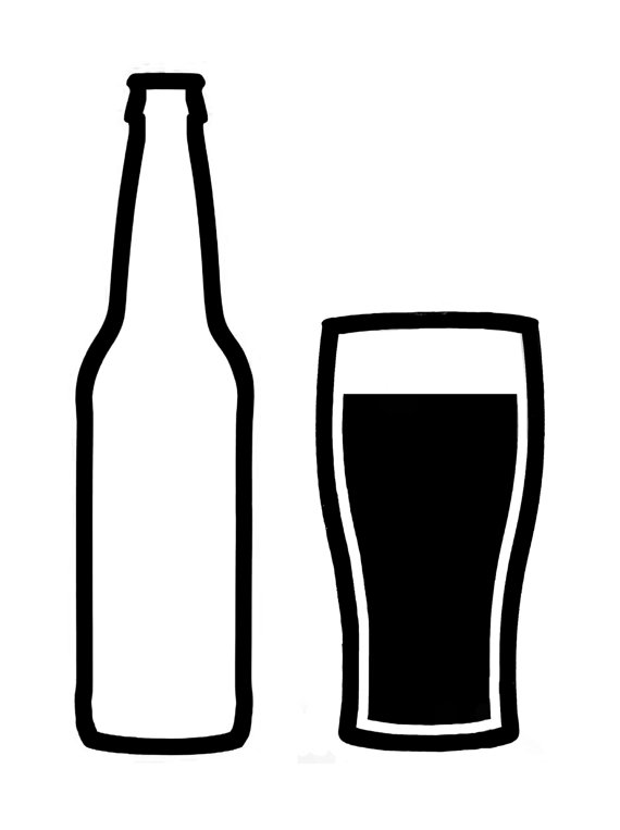 Beer bottle black and white clip art Beer bottle black and