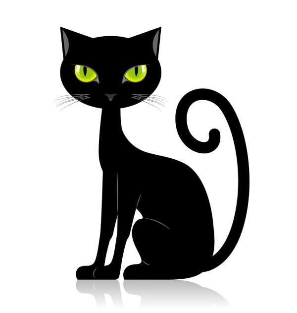Free Black Cat Clip Art Clipart Library
